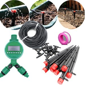 Fast Shipping 20 25 30m Automatic Watering Micro Drip Irrigation Garden Self Watering Kits Adjustable Dripper Spray Cooling T200616