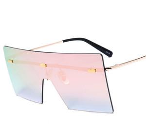 Desinger de lujo gafas de sol cuadradas con gafas de sol sin montura sello UV400 para Hombres Mujeres Accesorios de Moda de alta calidad