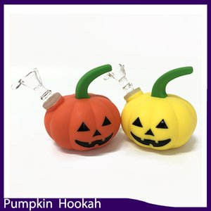 Pumpkin-Shape Hookah smoking water pipe Glass Bong Halloween shisha pipe with Glass bowl vs twisty glass blunt 0266248-1