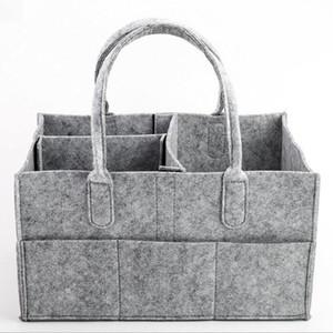 Baby-Filz Wickeltaschen Säuglingswindel-Speicher-Beutel grau tragbare Mom Bag Windel-Einkaufstasche Travel Organizer Korb Cosmetic Bag Handtaschen WY11