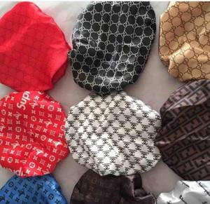 Durag progettista fascia Donne Stretch sonno Bonnet Cappello Sciarpa serica Bonnet Chemo Berretti Caps Cancer Copricapo dell'involucro della testa accessori per capelli