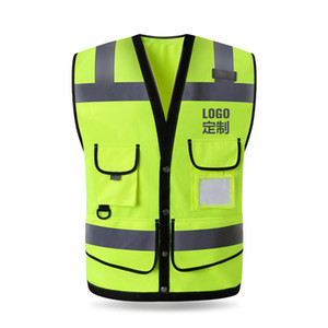 Reflective Vest Highlighting Construction Safety Protective Jacket Traffic Greening Road Fluorescent Clothing Waistcoat