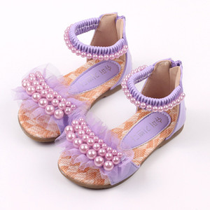 ULKNN Girls sandals 2020 summer new children's princess shoes 1-3 years old 9 baby sandals little girls dance shoes white T200703