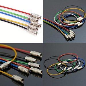 Titolare del PVC chiave del metallo Rope Split Rings Wire attrezzo esterno Colori di plastica di protezione unisex portachiavi portachiavi Keyfob Accessori