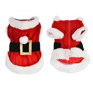 작은 개 겨울 개 후드 코트 재킷 강아지 고양이 의류 치와와 요크셔 옷 산타 애완 동물 개 의상 크리스마스 옷