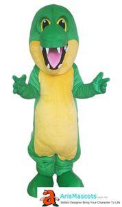 Зеленый крокодил Взрослый костюм талисмана для партии событие Mascot Maker Арис Талисманы Талисманы Сделано на заказ талисманы Реклама Mascotte Deguisement