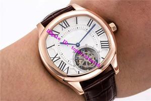 BL Factory Drive De Luxury Mens Watch Real Tourbillon Reloj de pulsera mecánico de cuerda manual Zafiro 18K Relojes de oro rosa Super impermeable