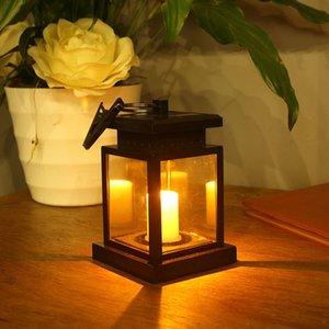 LED 태양 랜턴, 빈티지 솔라 램프 전원 방수 매달려 우산 랜턴 촛불 조명 클램프 비치 우산 파빌리온 정원 크레딧