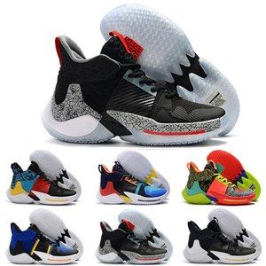 Las novedades llevan por qué no los zapatos de baloncesto para niños los hombres 0.2 zapatillas de deporte Russell Westbrook II zer0.2 zapatillas cero 2 zapatillas de deporte originales