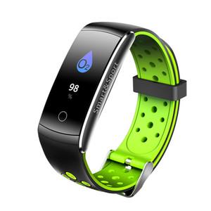 IOS Android için Q8S Akıllı Bilezik Nabız Tansiyon Kan Oksijen Tracker Akıllı İzle Spor Tracker Su geçirmez saatler