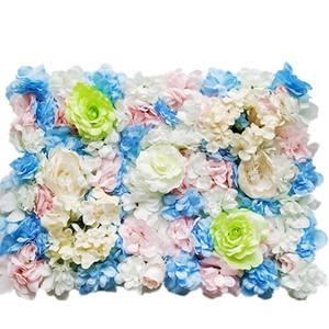 Artificiale background parete del fiore di crittografia Rosa peonia Traforo muro sfondo floreale fase Puntelli parete pianta Wedding Decoration BH3178 TQQ