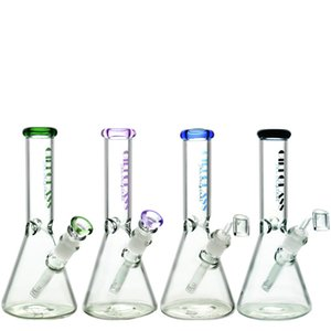 """5mm thick glass beaker bongs 10"""" Zob Hitman bong Water pipe dab rigs High quality oil rig Two functions heady Straight Tube pipes"""