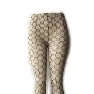 Lettre de conception de haute qualité femmes Collant Collant européens et américains 3 Taille acrylique Leggings avec la boîte