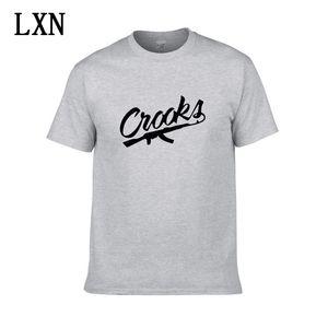 2020 Nova Crooks e castelos camisetas Homens de manga curta de algodão Man T-Shirt shirt dos homens Carta CROOKS t Tops Camiseta EL-3