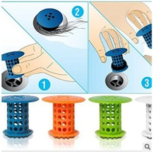 Bathroom Kitchen Drain Stopper Plug Bathtub Strainers Catcher Snare Sink Filter Covers Silicone Household Tools Housekeeping
