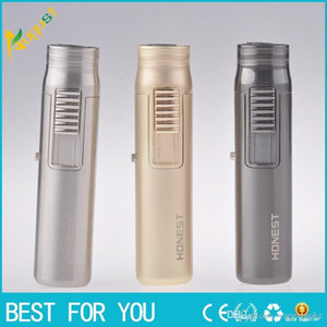 New arrival Mini windproof torch lighter gas jet inflatable lighter with retail box also offer grinder smoking pipe USB lighter