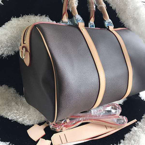 Beautiful 45cm Large shoulder bag oxidation leather fashion famous travelling bag luxury handbags presbyopic boston messenger bag