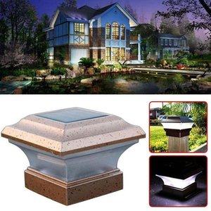 4x4 Zoll Solar-Pfostenkappe Lampen Solar-Deck und Zaun Lichter Torstangen Lampen Outdoor Solar Pillar Leuchten