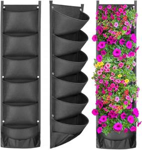 Vertical Hanging Garden Planteur Pots de fleurs Disposition mur étanche suspendu Flowerpot Sac solution parfaite décoration de jardin