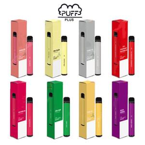 Puff Bar plus dispositif à usage unique 550mAh batterie 800+ Puffs Pod 8 Couleurs 3,2 ml Pas d'entretien de charge ou remplir de nouveau