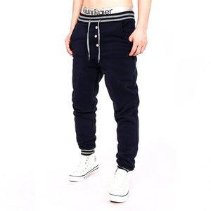 2018 Sonbahar Erkek Sapka gündelik pantolon Uzun Pantolon Man elastik bel Eşofman Egzersiz Koşucular Polar Sıcak Sweatpants Kış