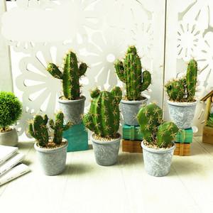 Artificiale Saguaro Cactus realistico falso Tropical cementeria Pot Decor nuovo