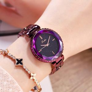 Scottie Marka Yeni Şık Minimalist Kişilik Bayanlar İzle Bilezik Saatler Yıldızlı Gökyüzü Şasi Mor Izle kadın Izle Toptan Saatler