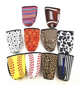 Néoprène Coupe Couverture bouteille Baseball Softball Cactus L'eau couvre Pouch imprimé léopard sac isotherme manches cas pour 30 oz Tumbler GGA3027-2