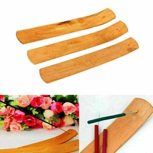 طبيعي عادي خشب البخور عصا الرماد الماسك الشعلة حامل خشبي البخور العصي حامل