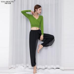 Mulheres Belly Dance Costumes Practice Top Calças de Gril Modal Top Classical Belly Formação dança e calças compridas terno novo