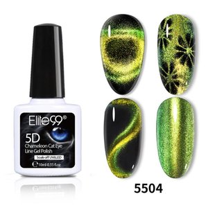 Elite99 10мл 9D Хамелеон Cat Eye УФ Гель лак для ногтей Soak Off Primer Top Base Coat Nail Art Magnet Стик Black Base Gel Lacquer
