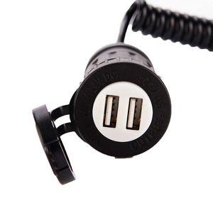 Spina accendisigari per auto Spina accendisigari standard USA a doppio caricatore USB con interruttore