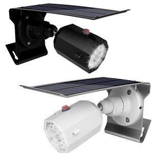 LED-Solarlicht Simulated-Kamera im Freien Bewegungs-Sensor-Wandleuchten 10 LED Solar-Straßenleuchte Wasserdichte Garten Sicherheit Lampe