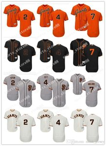 Sipariş üzerine Erkekler kadınlar gençlik SF Giants Jersey 2. Denard Açıklık 4 Mel Ott Yeşil 7 Jimmy Rollins Ev Turuncu Gri Beyaz Çocuk Kız Beyzbol Formalar
