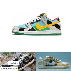 SB Dunk Pro QS Chunky Dunky Safari Mens Womens Skateboard Shoes Travis Futura Red Green Sports Sneakers scotts Trainers ok