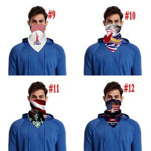 Открытая езда маска Американского флаг маски для лица Anti-пыль Солнцезащитных дышащей маски Digital 3D Printed платок может поставить PM2.5 фильтр
