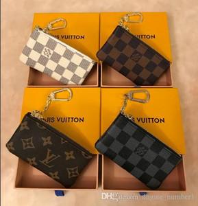 2020 KEY POUCH 다미에 캔버스 높은 품질의 유명한 고전 여성에게 선물 상자 키 홀더 동전 지갑 작은 가죽 제품의 가방을 보유