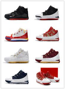 Высокое качество Леброн 3 дома мужчины баскетбольная обувь Джеймс 3 белый темно-синий SuperBron Zoom CTK мужчины дизайнер спортивные кроссовки Bq2444-100 с коробкой