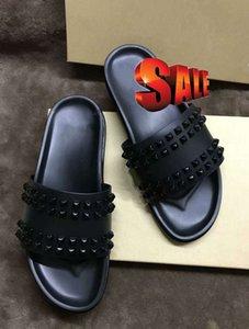 Donna Çivili Kırmızı alt terlik Tasarımcı Kırmızı Bottoms Ayakkabı erkekler Perçin Genç Dikenler Flatslippers