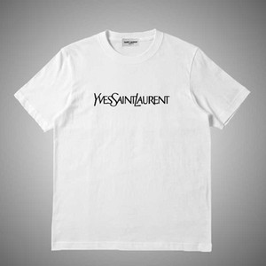 Yves Saint laurent YSL Мода Марка футболки мужские футболки вышивка Письмо печати мужчины повседневная шею женщины футболки летние футболки топ #62138