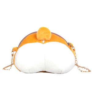Cute Pet Dog Buttock Plush Toys Stuffed Corgi Shiba Inu Butt ass Shaped Coin Purse Zipper Wallet Animal Backpack Crossbody Bags