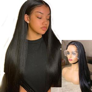 Toptan vücut gerçek insan bakire Brezilyalı saç ombre renk tam dantel peruk dalga