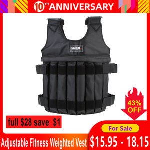 ports & Entertainment 20kg 50kg Adjustable Weighted Vest training Exercise Training Fitness Jacket Gym Workout Boxing Waistcoat Fitness E...