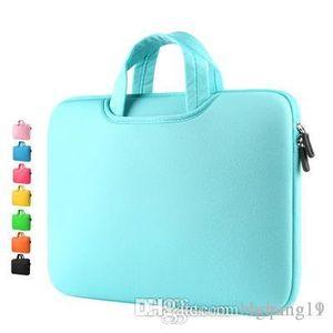 1PS new canvas waterproof Scratch-resistant Laptop Shoulder Bag 11 12 13 15inch Notebook Shoulder Carry Case for Anti-fall handbag