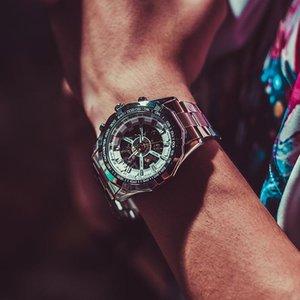 vent punk hip-hop coréen percé jusqu'à la fin de montres mécaniques automatiques hommes montres lumineux dépouillent montre de sport étanche