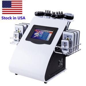 Inventario en EE. UU. Nueva promoción 6 en 1 Máquina de adelgazamiento por ultrasonidos Lipo por láser de vacío por cavitación por ultrasonidos para el spa en los EE.