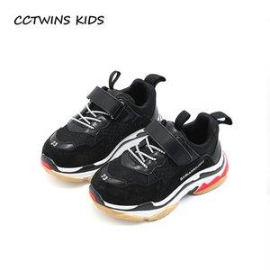 Cctwins Kids 2019 Printemps Enfants Noir Chaussure Décontractée Bébé Fille De Mode Sport Sneaker Tout-Petit Garçon Blanc Mesh Trainer F2179 Y19061906