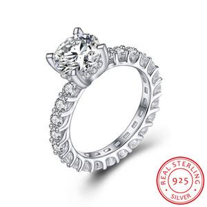 2.0CT 8мм Классический создания Moissanite Кольца Обручальные помолвки для женщин 100% реальные 925 кольцо стерлингового серебра нового способа ювелирных изделий XR325