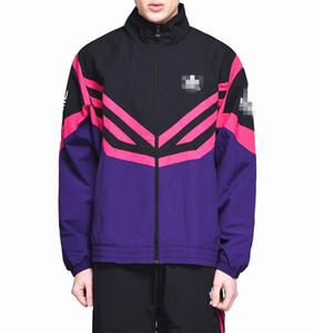 Marque Windbreaker Mens Designer Vestes Manteau Zip Hoodies Sport Running Survêtement Rue Hiphop Casual Blanc Pourpre Léger B100042L