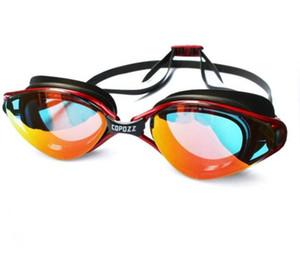 Copozz Lunettes de protection professionnelle anti-buée UV réglable Lunettes de natation Hommes Femmes lunettes silicone étanche Lunettes